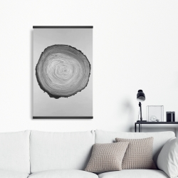Magnetic 20 x 30 - Grayscale round wood log