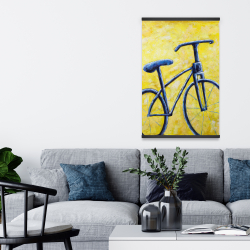 Magnetic 20 x 30 - Blue bike abstract