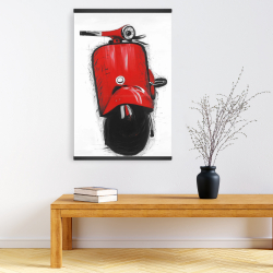 Magnetic 20 x 30 - Red italian scooter