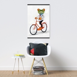 Magnetic 20 x 30 - Funny frog riding a bike