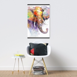 Magnetic 20 x 30 - Beautiful and colorful elephant