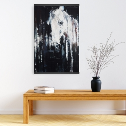 Magnetic 20 x 30 - Abstract horse on black background