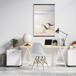 Magnetic 20 x 30 - Two sandpipers on the beach