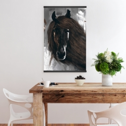 Magnetic 20 x 30 - Dark brown horse