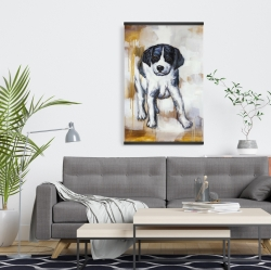 Magnetic 20 x 30 - Curious puppy dog