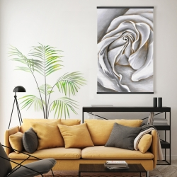 Magnetic 20 x 30 - White rose delicate