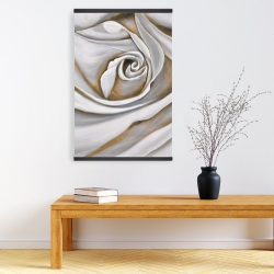 Magnetic 20 x 30 - White rose closeup