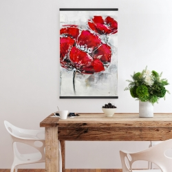 Magnetic 20 x 30 - Abstract and texturized red flowers