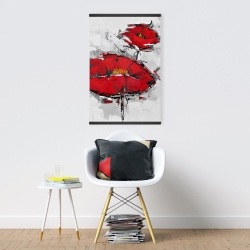 Magnetic 20 x 30 - Texturized red poppies