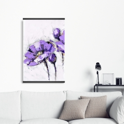 Magnetic 20 x 30 - Purple abstract flowers