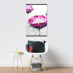 Magnetic 20 x 30 - Pink wild flowers