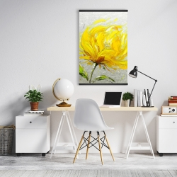 Magnetic 20 x 30 - Yellow fluffy flower