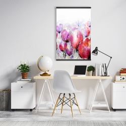 Magnetic 20 x 30 - Pink tulips field
