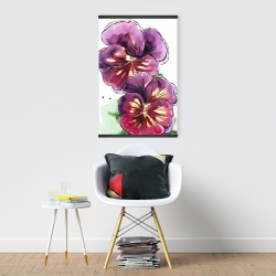 Magnetic 20 x 30 - Two blossoming orchid with wavy petals