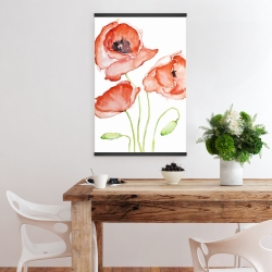 Magnetic 20 x 30 - Watercolor poppies