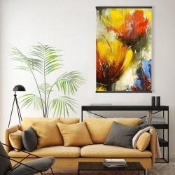 Magnetic 20 x 30 - Texturized yellow flowers