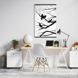 Magnetic 20 x 30 - Birds and branches silhouette