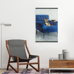 Magnetic 20 x 30 - Chihuahua on a blue armchair