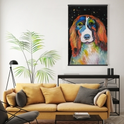 Magnetic 20 x 30 - Colorful dog