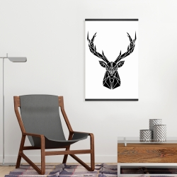 Magnetic 20 x 30 - Geometric deer head