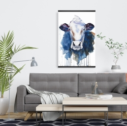 Magnetic 20 x 30 - Watercolor cow