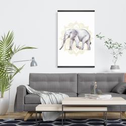 Magnetic 20 x 30 - Elephant on mandalas