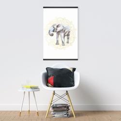 Magnetic 20 x 30 - Elephant on mandalas pattern
