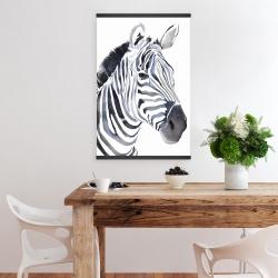 Magnetic 20 x 30 - Watercolor zebra