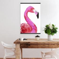Magnetic 20 x 30 - Watercolor proud flamingo profile