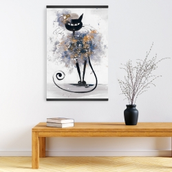 Magnetic 20 x 30 - Cartoon black cat