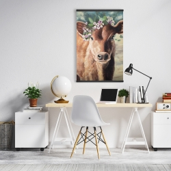 Magnetic 20 x 30 - Cute jersey cow