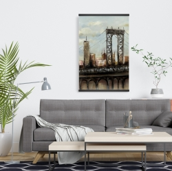 Magnetic 20 x 30 - City bridge by a cloudy day