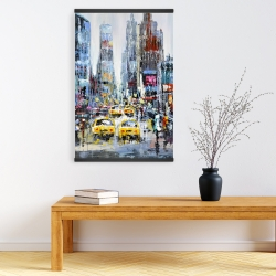 Magnetic 20 x 30 - Urban scene with yellow taxis