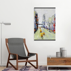 Magnetic 20 x 30 - Gray street with yellow and red accents