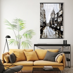 Magnetic 20 x 30 - Busy gray street