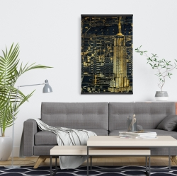 Magnetic 20 x 30 - Gold city blue print