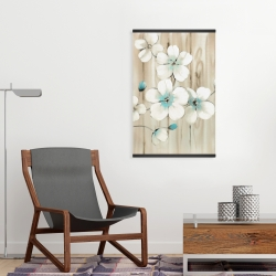 Magnetic 20 x 30 - Cherry blossom in white
