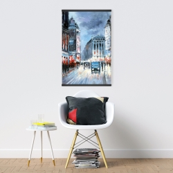 Magnetic 20 x 30 - Abstract red and blue city