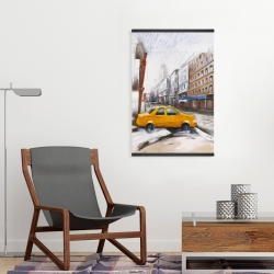 Magnetic 20 x 30 - Taxi in the street sketch
