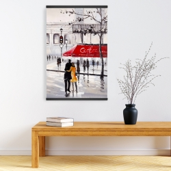 Magnetic 20 x 30 - Couple walking near a coffee shop