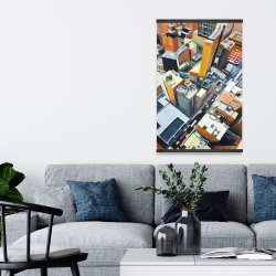 Magnetic 20 x 30 - High top view of buildings in new york