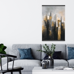 Magnetic 20 x 30 - Abstract gold skyscraper