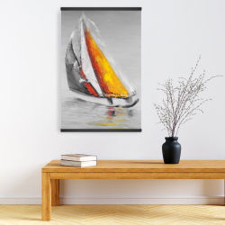 Magnetic 20 x 30 - Two colors sailing boat