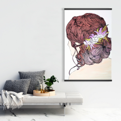 Magnetic 28 x 42 - Woman from behind with flowers