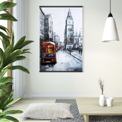 Magnetic 28 x 42 - Abstract london and red bus
