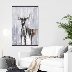 Magnetic 28 x 42 - Winter abstract deer