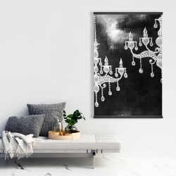Magnetic 28 x 42 - White chandeliers