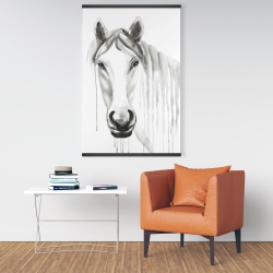 Magnetic 28 x 42 - Solitary white horse