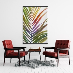 Magnetic 28 x 42 - Watercolor tropical palm leave