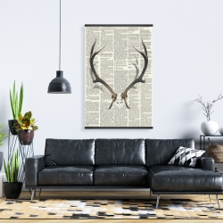 Magnetic 28 x 42 - Deer horns with newspaper
